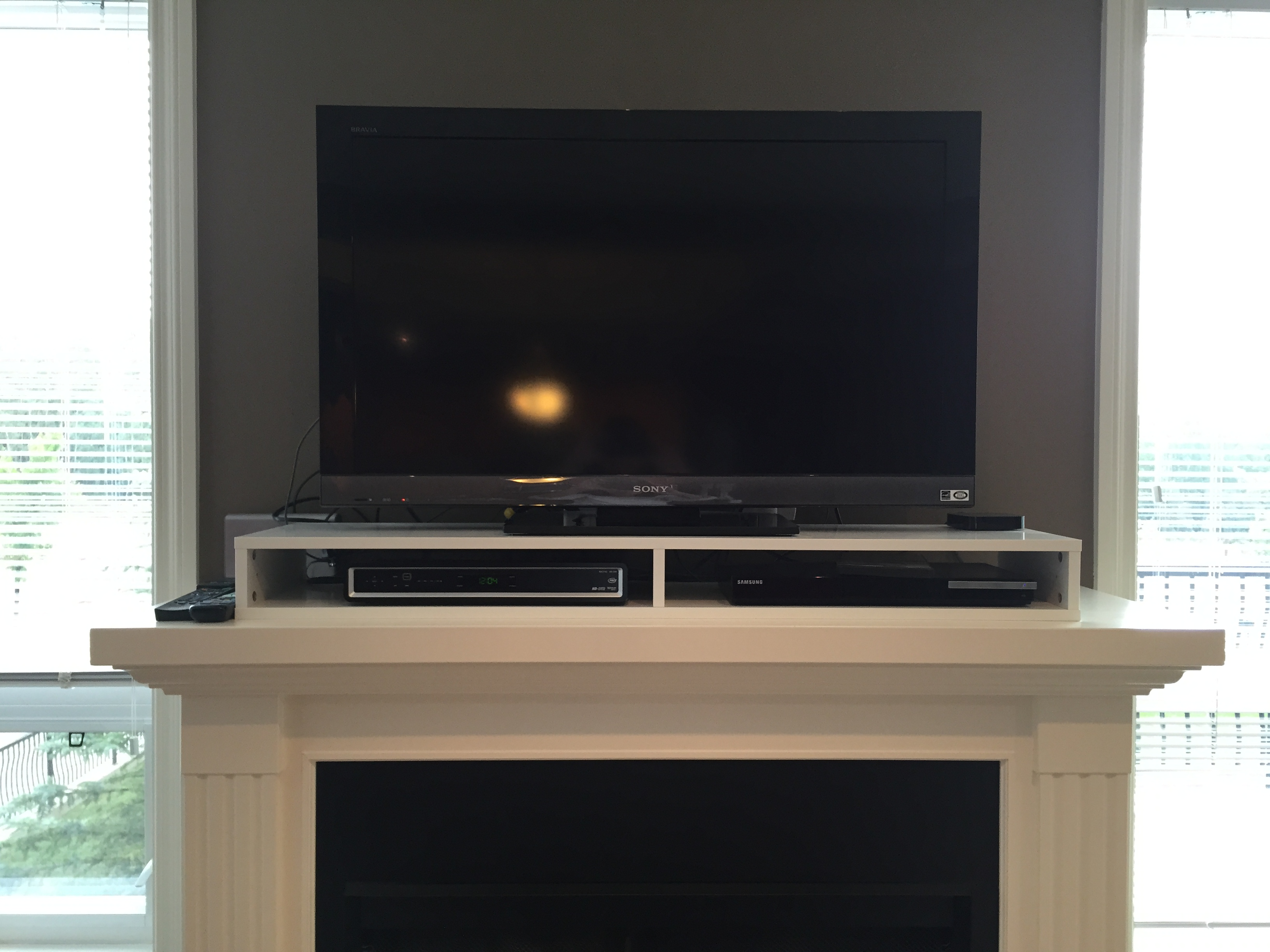 IKEA Hack – Cable Box and DVR Shelf